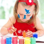 Childcare painting with colours